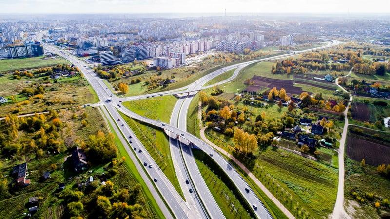 vilnius dronas greitkelis kelių infrastruktūra