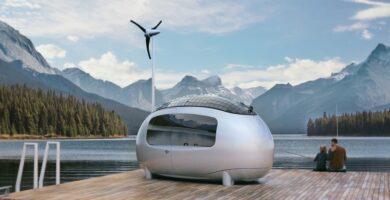 Modernus ir patogus off-grid stovyklavimas