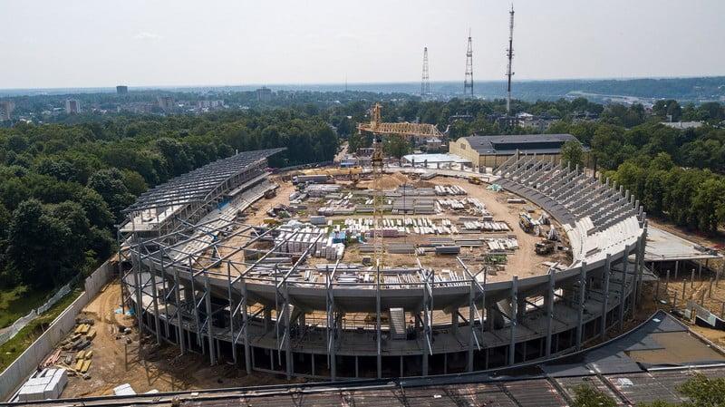 Kaunas dariaus ir gireno stadionas statybos
