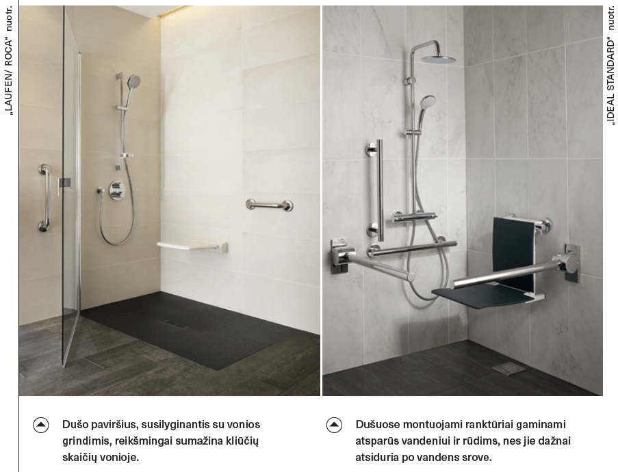 laufen ideal standard roca vonia vonios kambarys dusas universalus dizainas