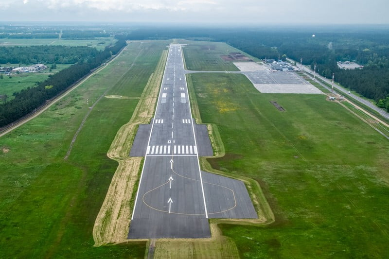 palangos oro uostas ortofo dronas