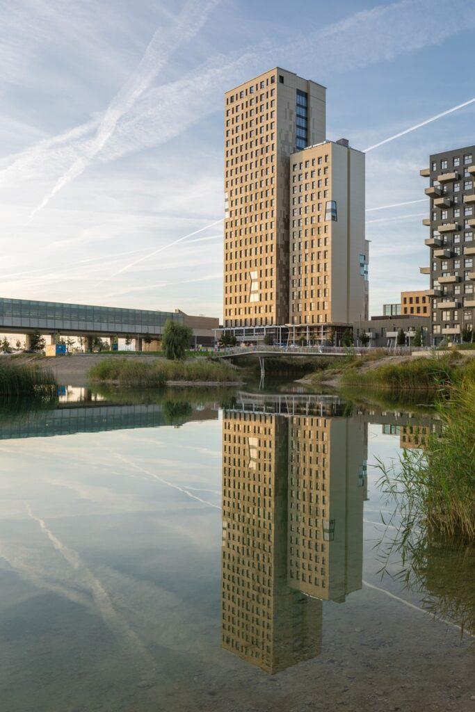 Wien HoHo medinė statyba