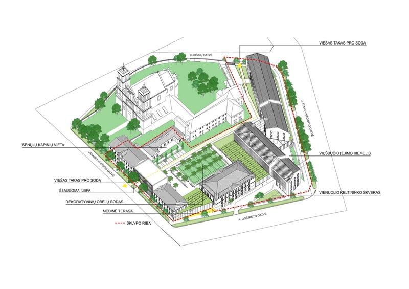 šv jokūbo ligoninės teritorija vilnius vasario 16-osios kompleksas
