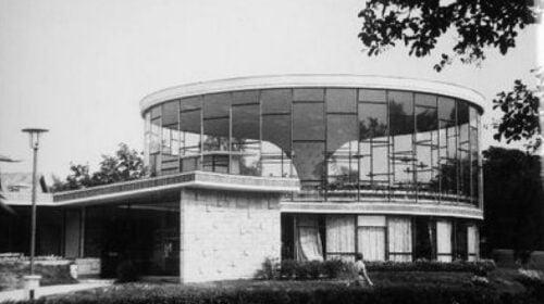 """""""Vasaros"""" kavinė Palangoje, archit. A. Eigirdas, 1964–1967 m. B. Aleknavičiaus nuotr., 1968 m., LCVA"""
