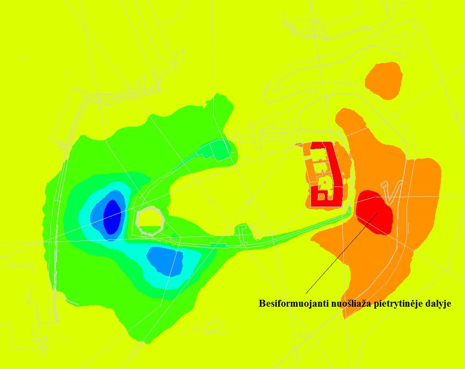 Besiformuojanti nuosliauza pietrytineje dalyje Saruno Skuodzio nuotr.