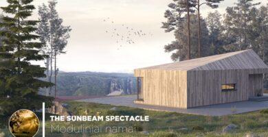 "Surenkamas modulinis namas ""The Sunbeam Spectacle"""