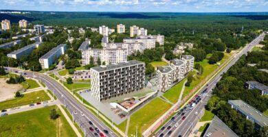 Sovietiniais daugiabučiais apstatytus Žirmūnus gaivins nauju daugiabučių kompleksu