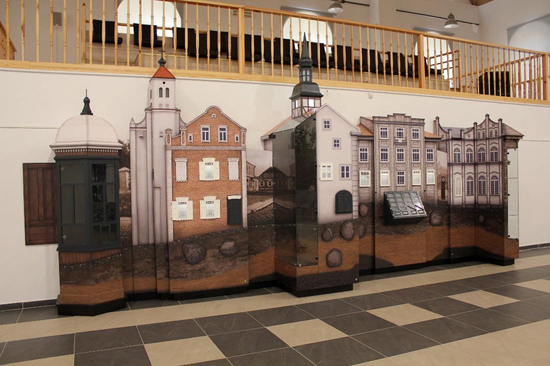Interaktyvi ekspozicija apie Joniškio miesto istoriją. D. Stabrauskaitės nuotr.
