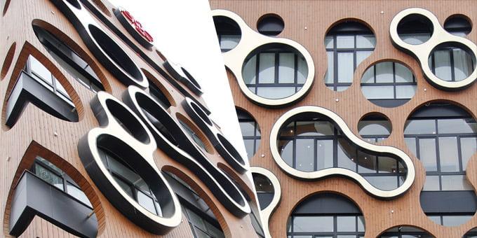 Architekto Lahiji 2014 metais suprojektuotas<br>biurų pastatas Gilane (Iranas).