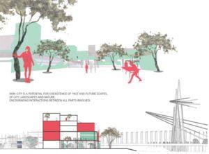 """Maili Tannenberg bakalauro darbas """"Ne-miestas"""" – ateities miestovaizdis šiaurinėje Talino dalyje""""."""