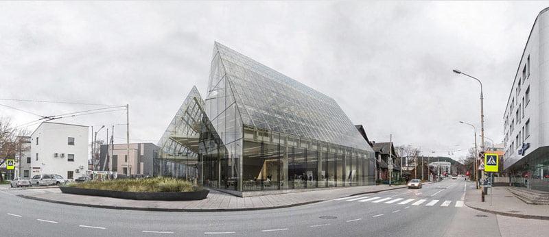 "I vieta. Architektų biuro ""Arches"" projektas. Architektai – E. Neniškis, A. Liola, R. Liola, K. Kazlauskas, E. Bagužaitė."