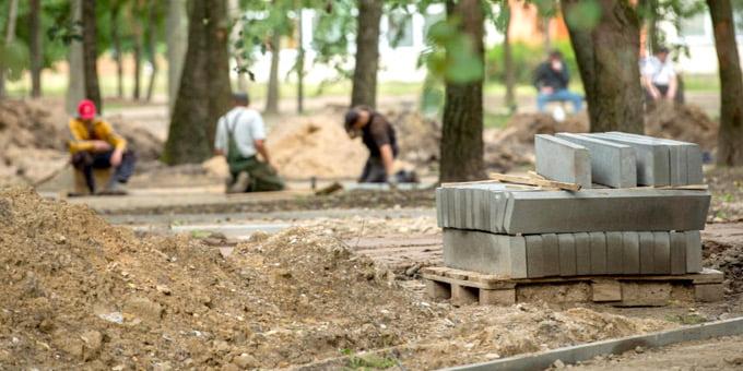 Dainavos parką planuojama atnaujinti iki lapkričio mėnesio pabaigos. Kauno savivaldybės nuotr.