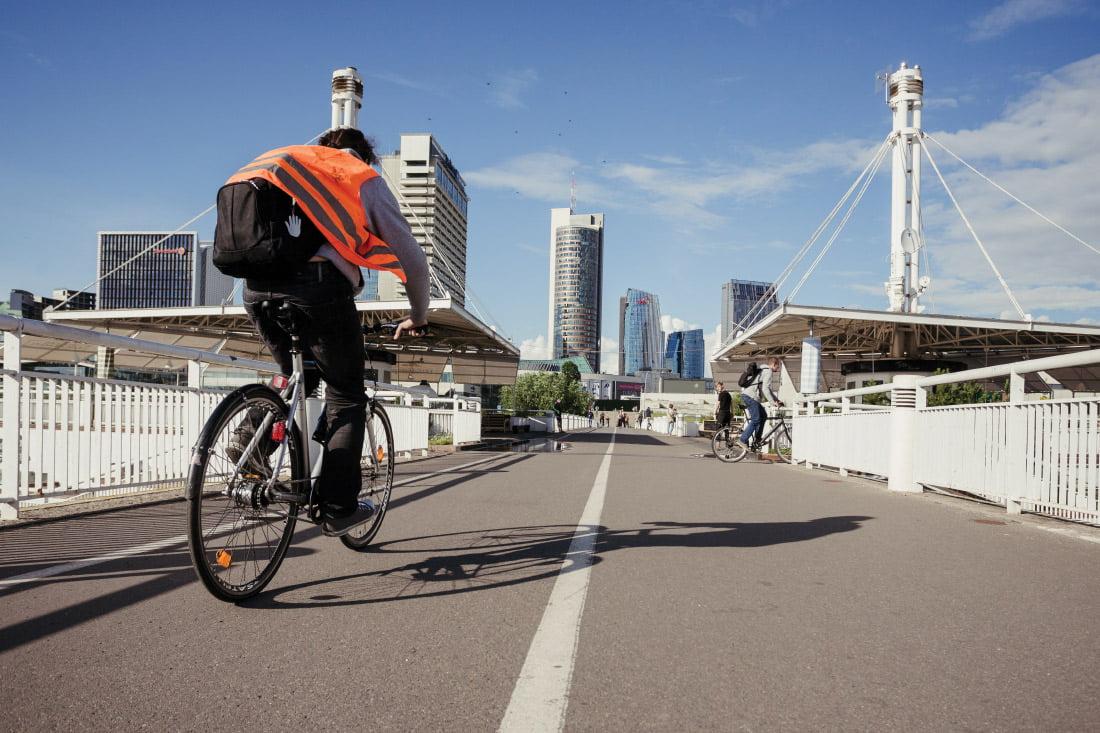 darnus judrumas dviratininkas