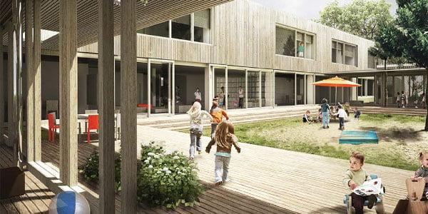 "Iliustracijoje - darželio Vilniuje rekonstrukcijos pasiūlymas.<br>Studija ""DO architects"""
