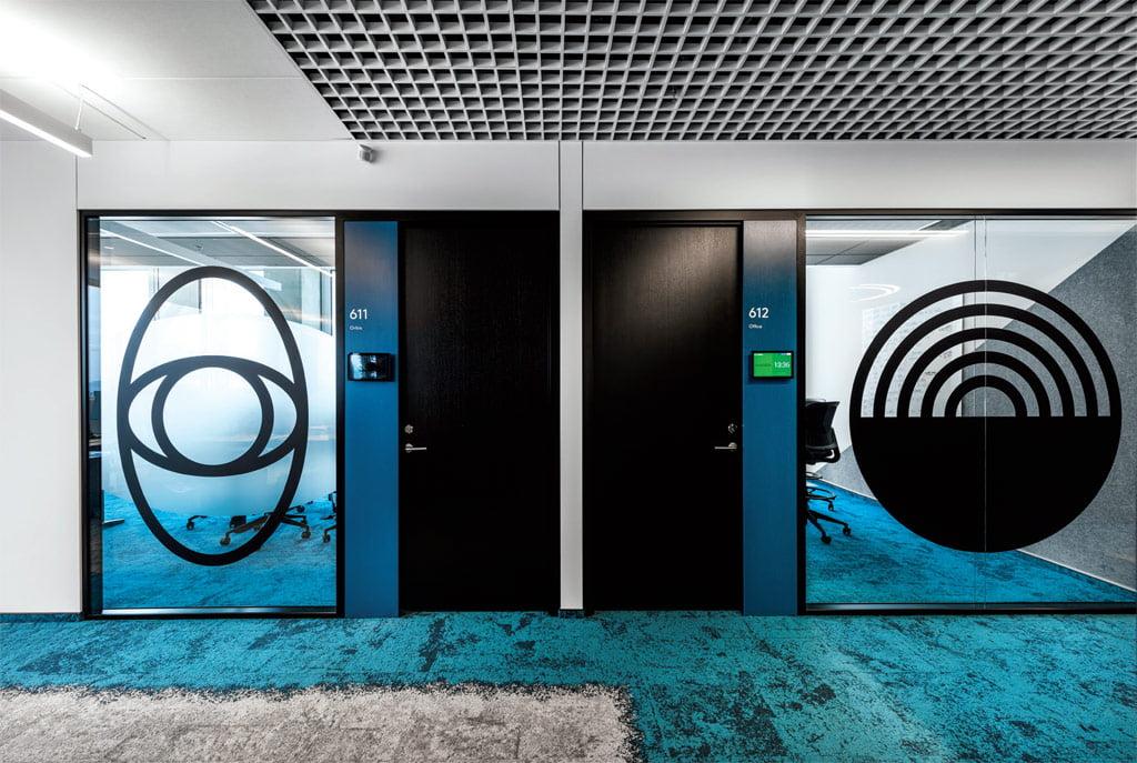 Antrame aukšte vyrauja mėlyna vandens spalva. Leono Garbačausko nuotr.