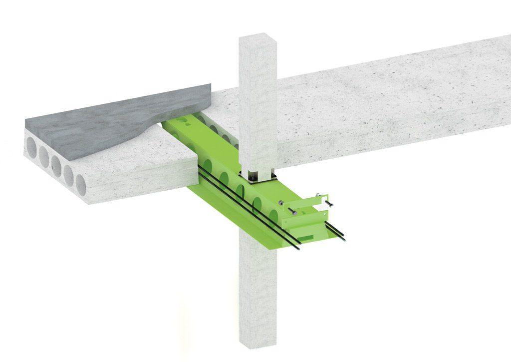 Sijos DELTABEAM<sup>®</sup> pasirenkamos dėl galimybės sumažinti pastato aukštį ir formuoti klojinius išskirtinės fasado formos kūrimui.