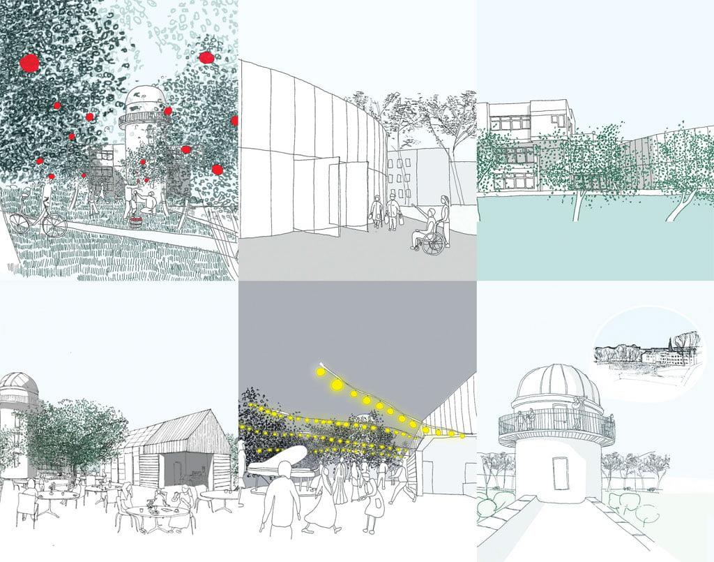 Naujai formuojamomis lauko erdvėmis siūloma ne tik papildyti pastato programą, suteikti jai lankstumo, bet ir išryškinti jau suformuotos aplinkos stiprybes.