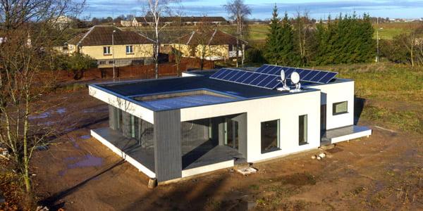 """Pirmasis sertifikuotas A++ gyvenamais namas Lietuvoje.<br>Bendrovės """"EKIE namas"""" nuotr."""