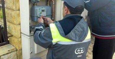 dujų ir elektros įvedimo tvarka