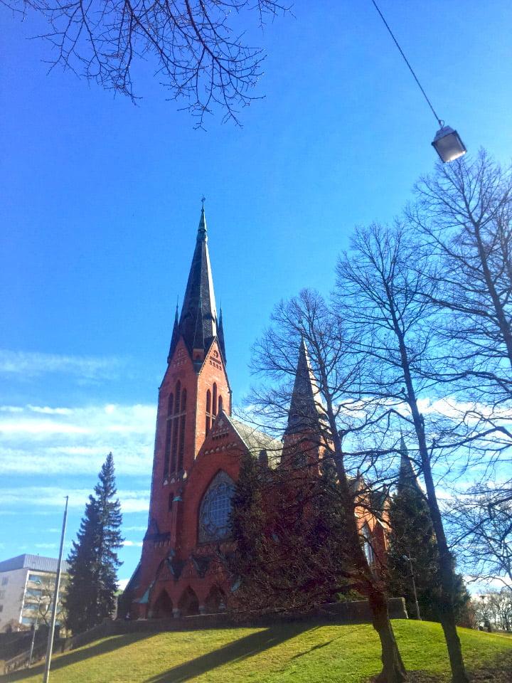 """Šv. Mykolo bažnyčia, Turku mieste, Suomijoje. Čia vyko """"Europa Nostra"""" apdovanojimai 2017 m."""
