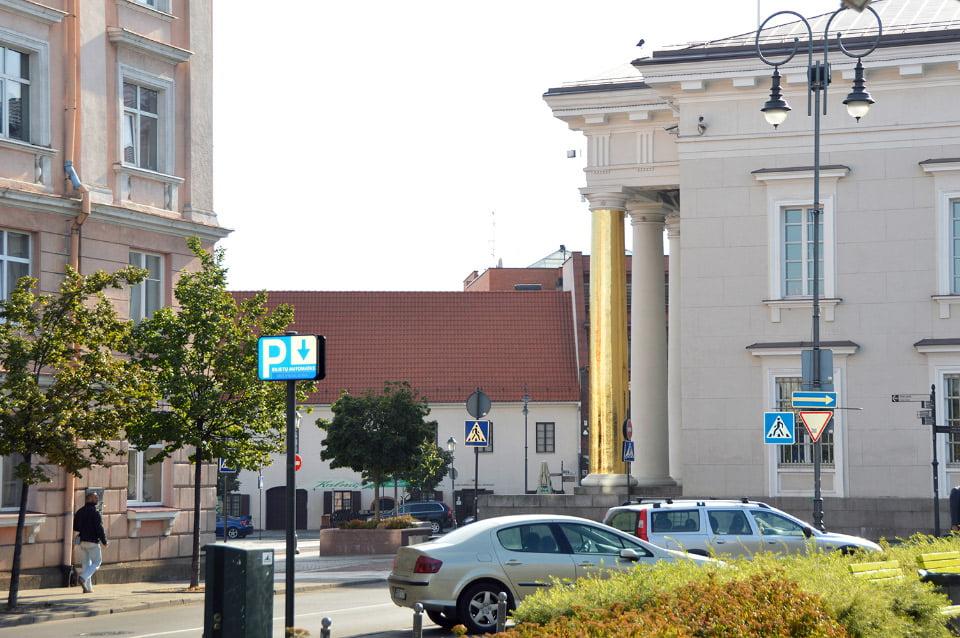 "Aut. Upperstudio - Vilniaus rotušė (""Vilnius Street Art"" nuotr.)"