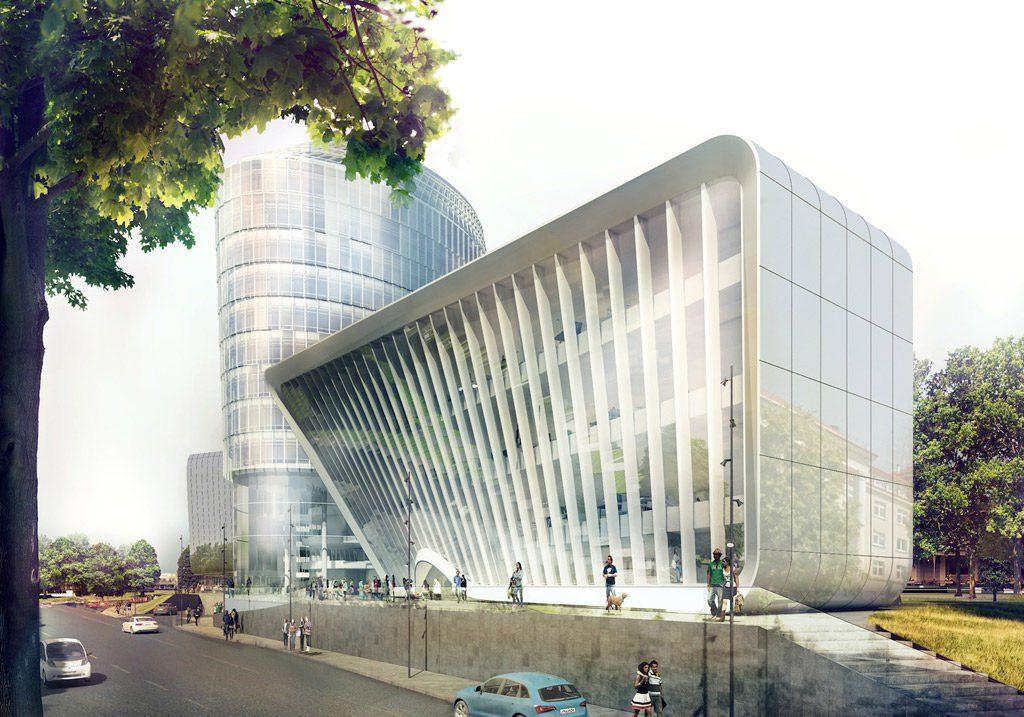 """Verslo centras """"Green Hall 3"""". Projekto vizual."""