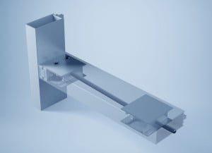 """Didelių matmenų stiklo konstrukcijos su nematomu horizontalaus profilio įtempimu – inovatyvi """"heroal"""" idėja."""