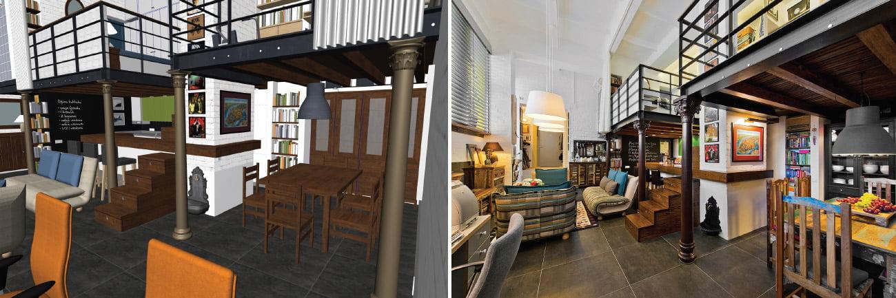 Dirbant su 3D modeliu galima vaikščioti po dar tik projektuojamus namus, keisti duris, baldus, spalvas ir t. t.