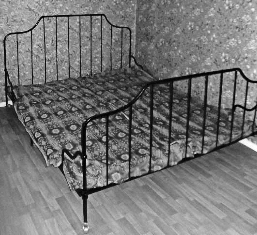 11 pav. Dvigulė metalinė lova, XIX a. pab.–XX a. pr., fot. E. Bagušinskaitė, 2013 m.