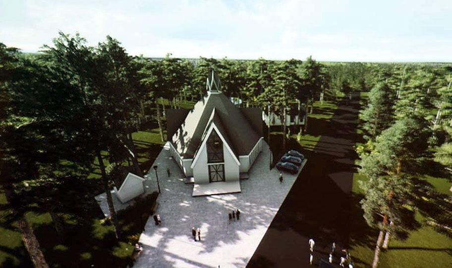 Bažnyčios projekto vizual.