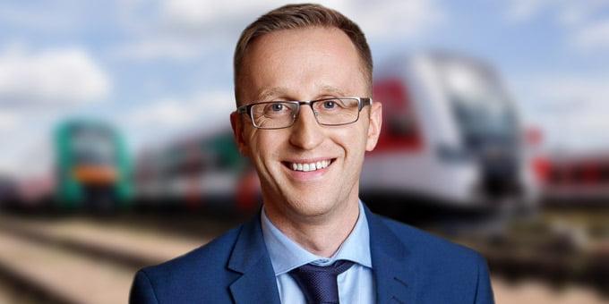 """<b>Karolis Sankovski</b>.<br>""""Lietuvos geležinkelių"""" nuotr."""