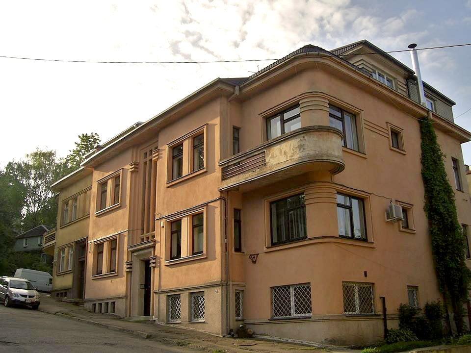 Buvęs Stasio Stašio namas V. Mykolaičio–Putino g., 1935 m. G. Oržikausko nuotr.