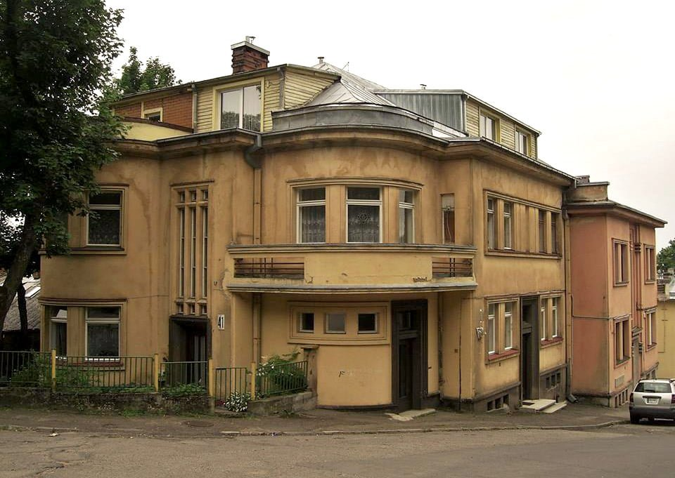 Buvęs Jono Norkaičio namas V. Mykolaičio–Putino ir K. Būgos gatvių sankirtoje, 1935 m. G. Oržikausko nuotr.
