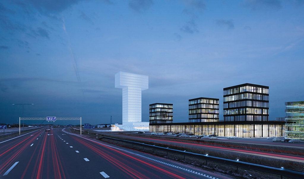 Klaipėdos Laisvosios ekonominės zonos (LEZ) urbanistinė koncepcija siekiama glaudžios integracijos į Klaipėdos miesto struktūrą. DO ARCHITECTS vizual.