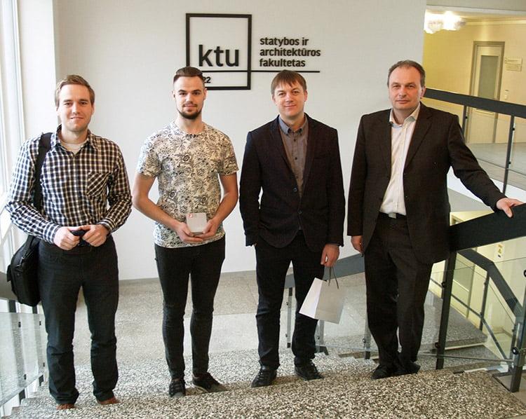 P. Grigaliūnas (kairėje), M. Zalieska, M. Dagys ir Ž. Rudžionis