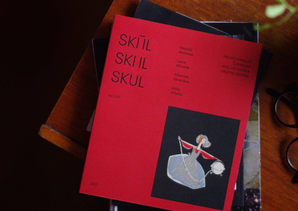 """2 vieta: Žurnalas apie lietuvišką grafinį dizainą """"SKŪL""""."""
