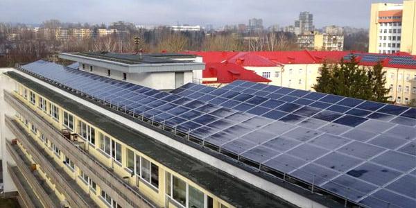 Vilniaus m. klinikinės ligoninės saulės jėgainė. AM nuotr.