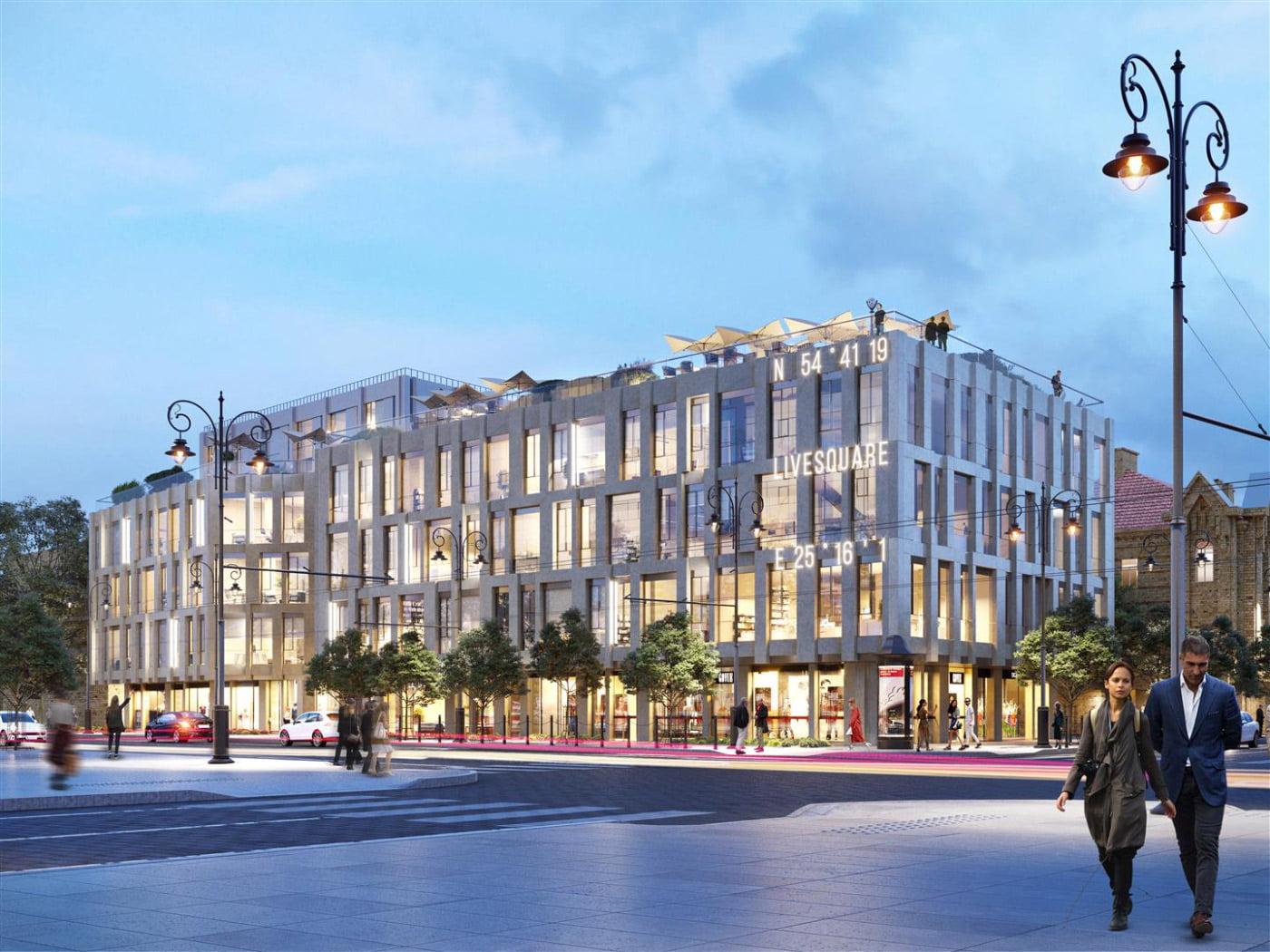 """Fasadinė viešbučio pusė ypač svarbi, jei viešbutis įsikūręs miesto centre. """"Eikos"""" vizual."""
