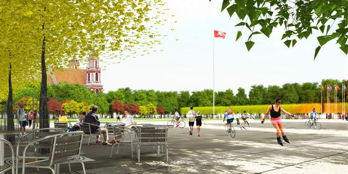 Lukiškių aikštės rekonstrukcijos vizual.