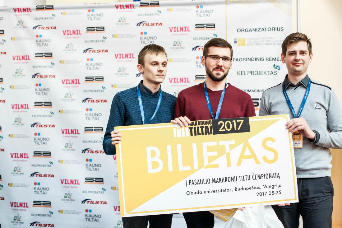 """VGTU studentų komanda """"Špikis"""". Organizatorių nuotr."""