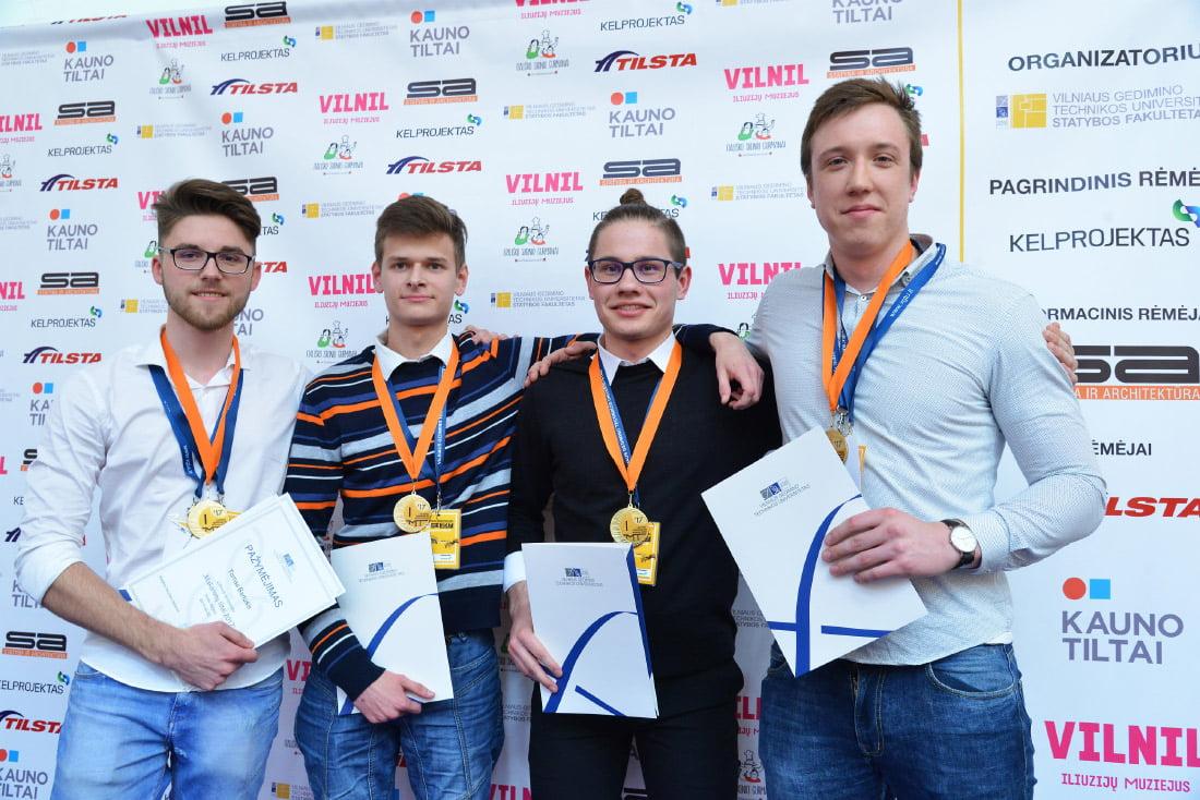 """Nugalėtojų komanda """"Marmašėliai"""", Vievio gimnazija. VGTU nuotr."""