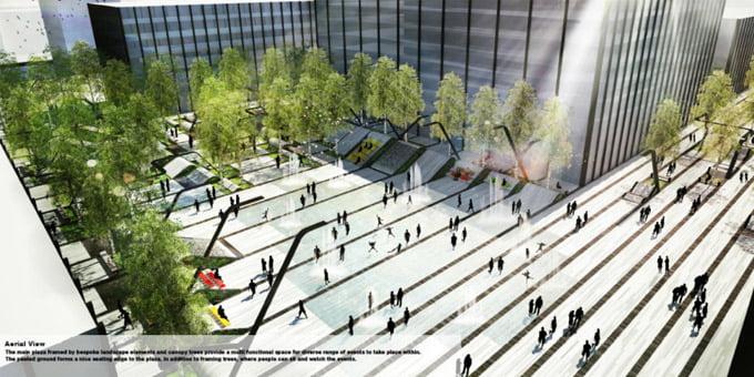 """Geriausią sprendimą buvusiai Žalgirio stadionio teritorijai pasiūlė architektų studija """"Martha Schwartz Partners""""."""
