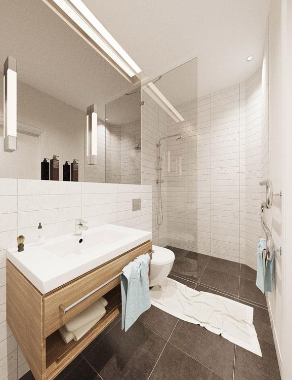 Nauji, šviesesni vonios kambariai.