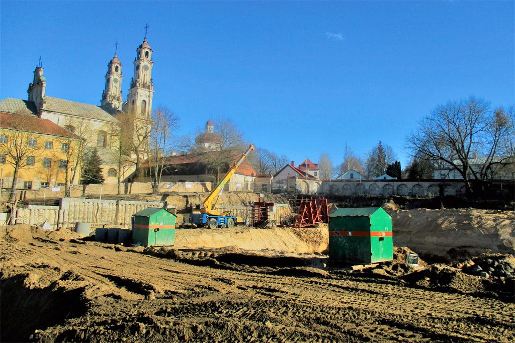 """""""Misionierių sodų"""" statybos. Gyčio Oržikausko nuotr."""