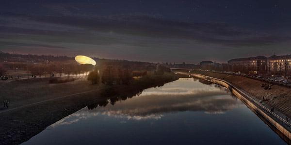 """""""Mokslo salos"""" architektūrinio konkurso nugalėtojų """"SMAR Architecture studio"""" projekto vizual."""