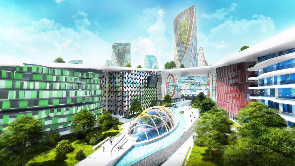 """""""New Kaunas"""". """"Baltic Architects Group"""" vizual."""