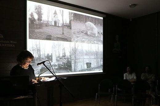 Eksperimentinių kūrybinių dirbtuvių uždarymas Kalba arch. Jurėna Steponavičienė.