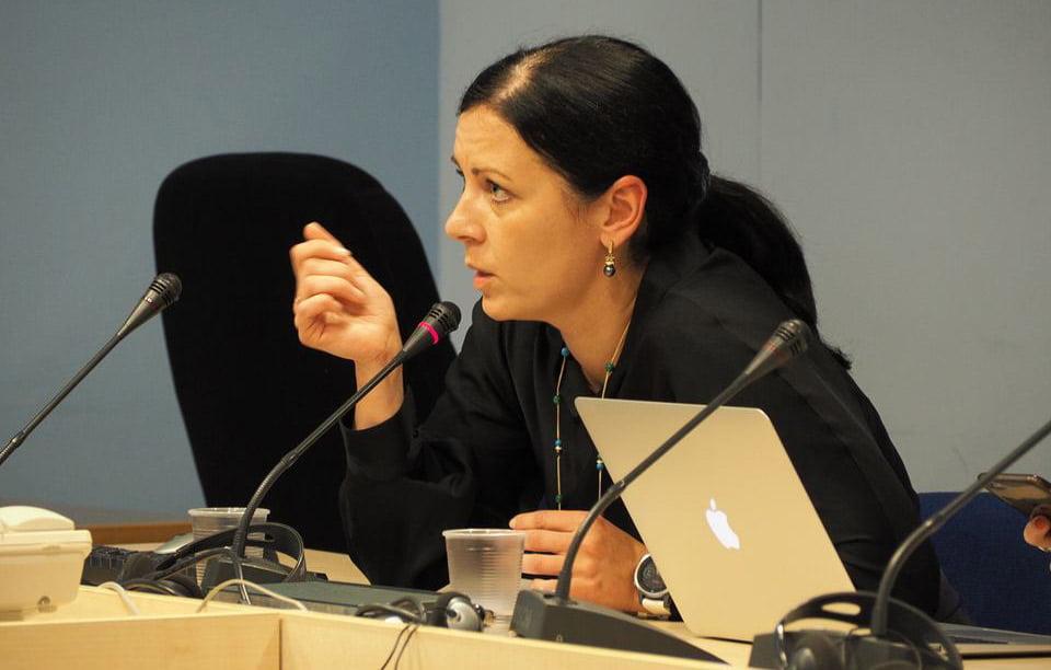 Valstybinės kultūros paveldo komisijos pirmininkė Evelina Karalevičienė.