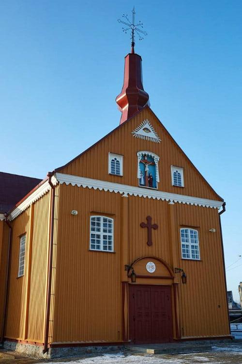 Restauruota Skaudvilės Šv. Kryžiaus bažnyčia Tauragės r. Algimanto Bajorino nuotr.