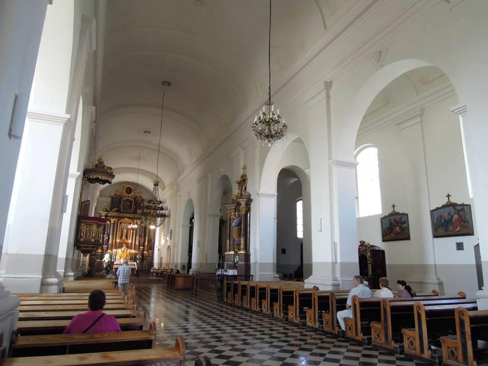 Marijampolės Šv. Mykolo Arkangelo bazilika. Pabaigtas vidaus tvarkybos darbų etapas.
